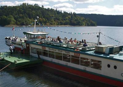 Bootsfahrt in Saalburg